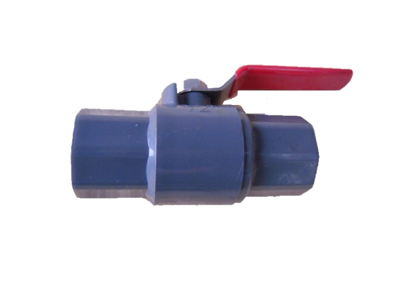 PVC Ball Valve For Opening Or Closing Water Flow And